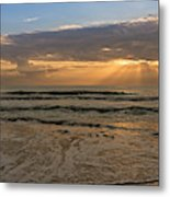 Cloudy Sunrise In The Mediterranean Metal Print