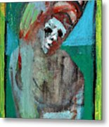 Clown At A Table Metal Print
