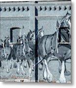 Clydesdale Mural Metal Print