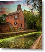 Coalport Bottle Kiln Sunset Metal Print