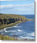 coastal bay at Cove with cliffs Metal Print