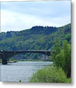 Cochem Castle And River Mosel In Germany Metal Print