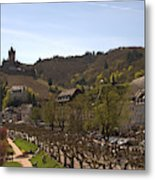 Cochem Castle And Town On Mosel In Germany Metal Print