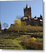 Cochem Castle And Vineyard In Germany Metal Print