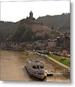 Cochem Castle, Town And River Mosel In Germany Metal Print