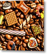 Coffee Candy Metal Print
