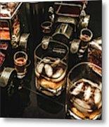 Cognac Cars Metal Print