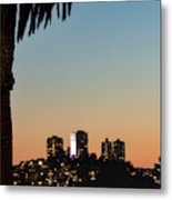Coit Tower Twilight Metal Print