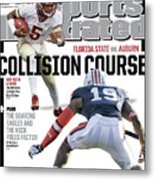Collision Course Florida State Vs. Auburn, 2013 Bcs Sports Illustrated Cover Metal Print