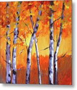 Color Forest Landscape Metal Print