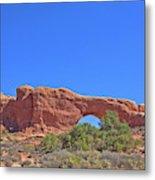 Colorado Arches Rock, Scrub Blue Sky 3397 Metal Print