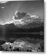 Colorado Mountain Lake In Black And White Metal Print