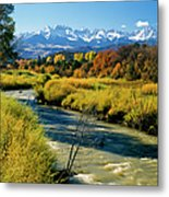 Colorado Mountains And Stream Metal Print