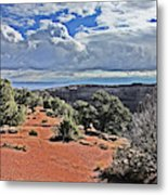 Colorado National Monument Trees Rock Formations Clouds 3001 Metal Print