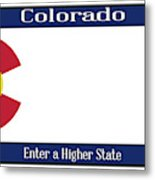 Colorado State License Plate Metal Print