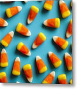 Colorful Candy Corn For Halloween On A Metal Print