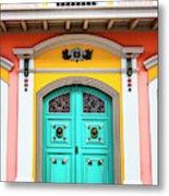 Colorful Door Metal Print
