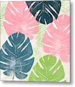 Colorful Palm Leaves 1- Art By Linda Woods Metal Print