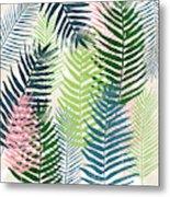 Colorful Palm Leaves 2- Art By Linda Woods Metal Print