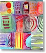 Colorful Patchwork 1- Art By Linda Woods Metal Print