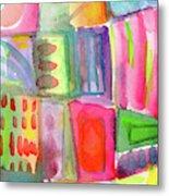 Colorful Patchwork 2- Art by Linda Woods Metal Print