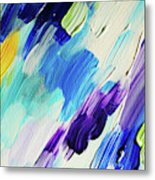Colorful Rain Fragment 1. Abstract Painting Metal Print