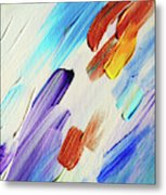 Colorful Rain Fragment 3. Abstract Painting Metal Print