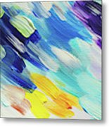 Colorful Rain Fragment 5. Abstract Painting Metal Print