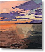 Colorful Sunset Over The Gulf Of Mexico Metal Print