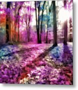 Colorful Trees Xii Metal Print