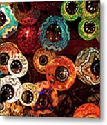Colorful Turkish Lanterns From The Metal Print