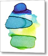 Colorful Watercolor Paint Paper Texture Metal Print