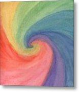 Colorful Wave Metal Print