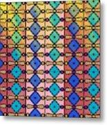 Coloured Glass Window Metal Print