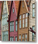 Colourful Houses In A Row Metal Print