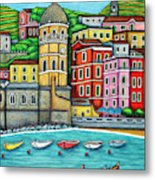 Colours of Vernazza, Cinque Terre Metal Print