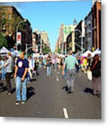 Columbus Day On Amsterdam Ave. Upper West Side, New York 2008 Metal Print