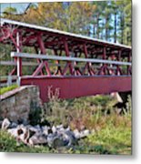 Colvin Covered Bridge Metal Print