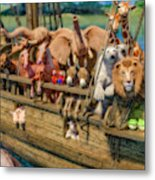 Come Aboard There's Plenty Of Room Ark Metal Print