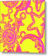 Comic Constellation Metal Print