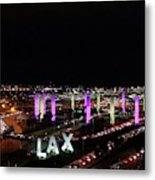 Coming And Going In The Heart Of L A At Night-time Metal Print