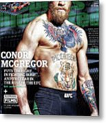 Conor Mcgregor Puts The Fight In Fighting Irish...and The Sports Illustrated Cover Metal Print