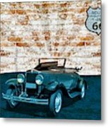 Convertible Vintage Car Metal Print