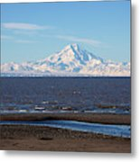 Cook Inlet And The Alaska Range From Ninilchik Metal Print