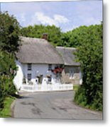 Cornish Thatched Cottage Metal Print