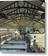 Cotton Manufacture Mule Spinning, C1830 Metal Print