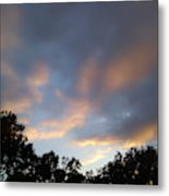 Cotton Sky Metal Print
