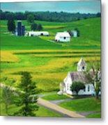 Country Church Metal Print