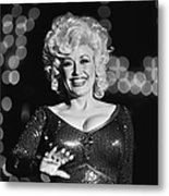 Country Singer Dolly Parton In Concert Metal Print