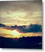 Country Sunset In Pavo Metal Print